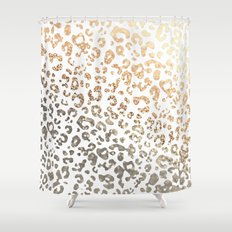 GOLD LEO Shower Curtain