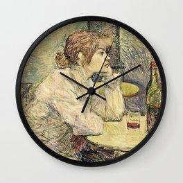 Henri De Toulouse Lautrec - The Hangover Wall Clock
