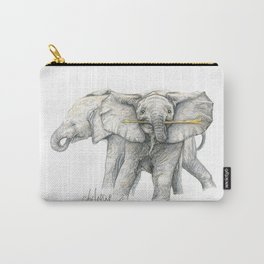 Baby Elephants! Carry-All Pouch