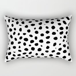 Black And White Cheetah Print Rectangular Pillow