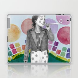 clown and lots of dots Laptop & iPad Skin