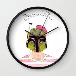 Francophile Boba Fett Wall Clock