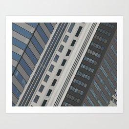 Singapur Skyline Glas Window Front Art Print