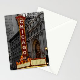Chicago Theatre Sign Downtown State Street Historic Theater Marquee Stationery Cards