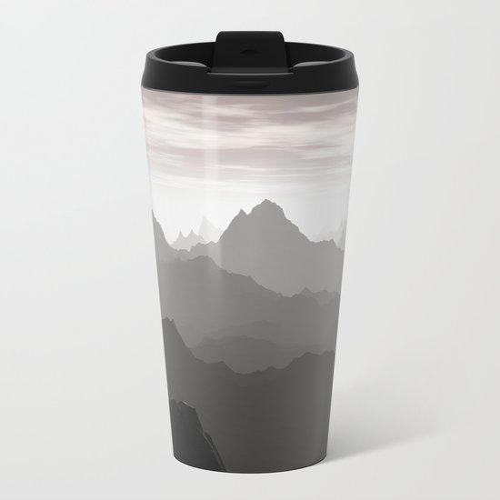 Shades of Gray Metal Travel Mug