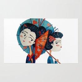 Blue Geishas Rug