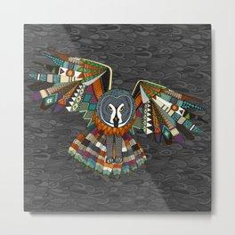 night owl charcoal Metal Print