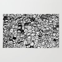 faces Area & Throw Rugs featuring Faces by studiom6