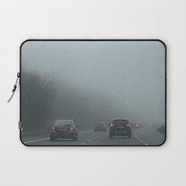 Misty Morning Drive Laptop Sleeve
