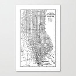 New York City Subway Map, New York City Art, Manhattan New York Canvas Print