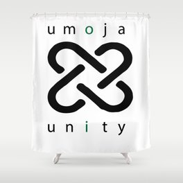 umoja = unity Shower Curtain