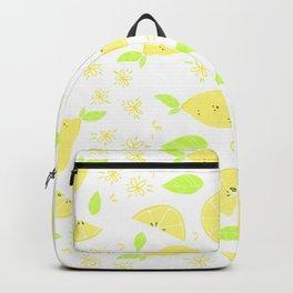 Capri Lemon Slices (white) Backpack