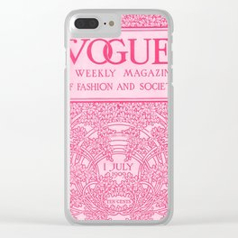 PINK V Clear iPhone Case