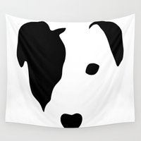 jack Wall Tapestries featuring Jack Russell by Dizzy Moments