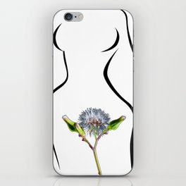 The woman and flower iPhone Skin