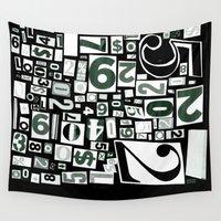 numbers Wall Tapestries featuring Numbers by Friztin by friztin