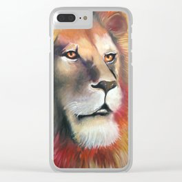 """""""Lion Heart"""" Clear iPhone Case"""