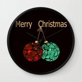merry Christmas . Wall Clock
