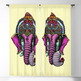 psychedelic elephant Blackout Curtain