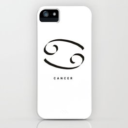 CANCER ZODIAC SIGNS #cancer #astrology #symbol #horoscope iPhone Case