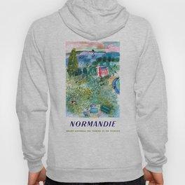 1952 Normandie France Railway Travel Poster Hoody