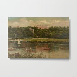 The Royal Star and Garter Home - Richmond on the Thames River landscape by James Isaiah Lewis Metal Print