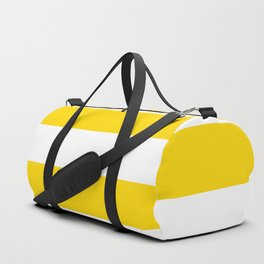 Sunshine Yellow and White Stripes Duffle Bag