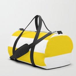 Sunshine Yellow and White Stripes Duffle Bag