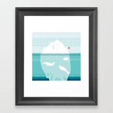 The Ice Lovers Framed Art Print