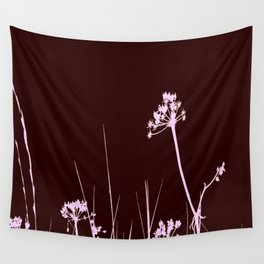 SEA PLANTS PURPURE&BROWN Wall Tapestry