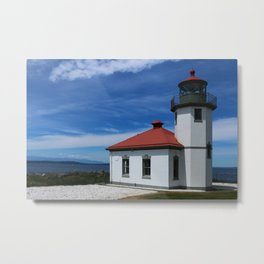 Alki Point Light Metal Print