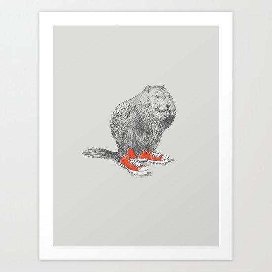 Woodchucks Art Print