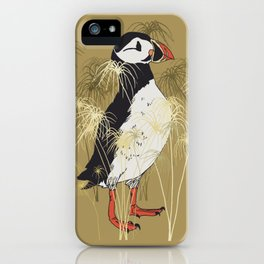 Puffin & Botanical Illustration Art Series iPhone Case