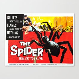 The Spider, vintage horror movie poster Canvas Print