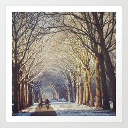 Dutch Winter Wonderland  Art Print