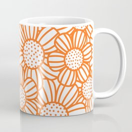 Field of daisies - orange Coffee Mug
