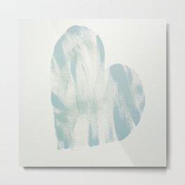 blue, Love Metal Print