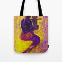 madonna Tote Bags featuring madonna rucellai by Karla Zercicov