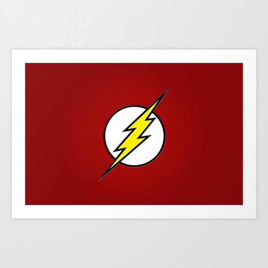 Flash - Digital Work Art Print
