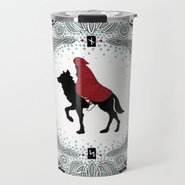 Red and Wolf Travel Mug