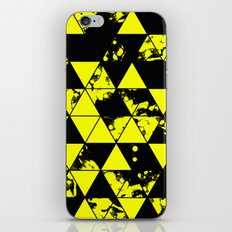 Splatter Triangles In Black And Yellow iPhone & iPod Skin