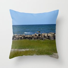 Dennis Beach Throw Pillow
