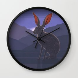 Black-tailed Jackrabbit Wall Clock