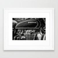 honda Framed Art Prints featuring Frozen Honda by David Cantatore
