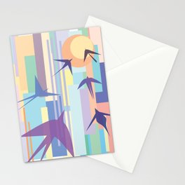 Birds and the Sun Stationery Cards