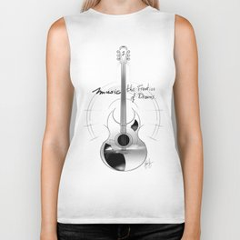 The acoustic guitar - Music, The Frontier of Dreams. Biker Tank