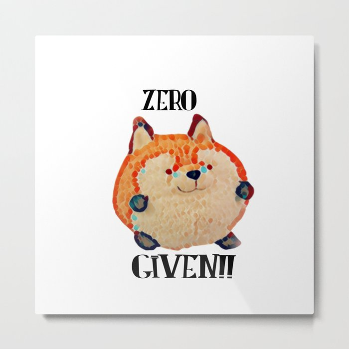 ZERO Fox Given Metal Print