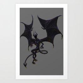 Night Gaunt - Pixel Art Art Print