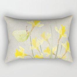Daffodils and brimstone Rectangular Pillow