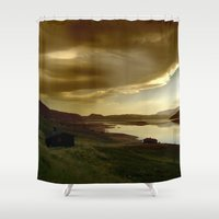 norway Shower Curtains featuring Norway by Sushibird